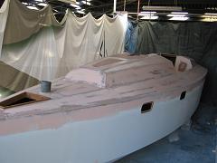 Enduits époxy pont roof voilier Nestor