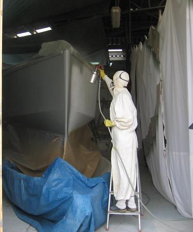 L` Etroit Mousquetaire peinture de coque