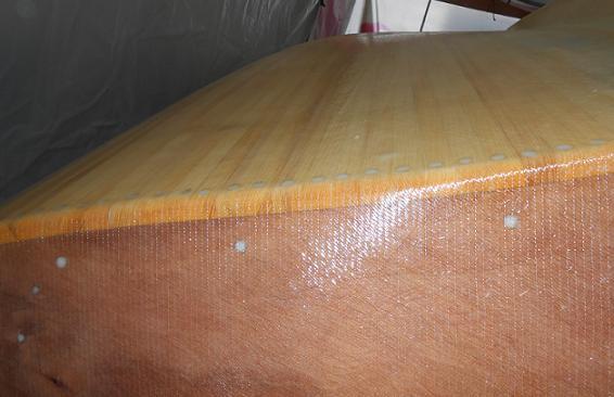 Lugger 6m détail strat. angle tableau